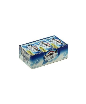Trident White Gum, PEPPERMINT, Sugar Free - 9/16 piece Packs [144 pieces]
