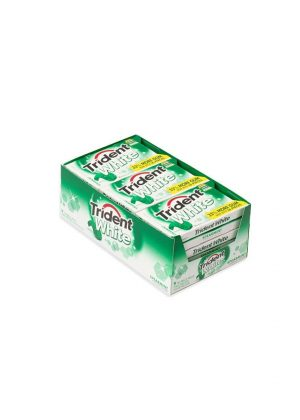 Trident White Gum, SPEARMINT, Sugar Free - 9/16 piece Packs [144 pieces]