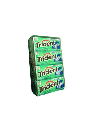 Trident MINTY SWEET Sugar Free Gum, 12 boxes, 18 count each [216 Pieces]
