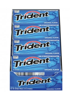 Trident ORIGINAL Sugar Free Gum, 12 boxes, 18 count each [216 Pieces]