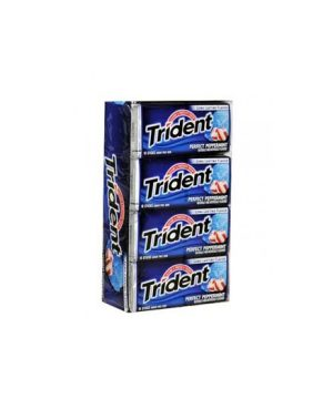 Trident PERFECT PEPPERMINT Sugar Free Gum, 12 boxes, 18 count each [216 Pieces]
