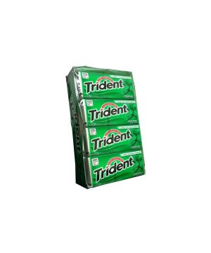 Trident SPEARMINT Sugar Free Gum, 12 boxes, 18 count each [216 Pieces]