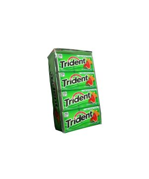 Trident WATERMELON TWIST Sugar Free Gum, 12 boxes, 18 count each [216 Pieces]
