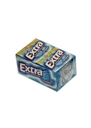 Extra PEPPERMINT Gum, Sugar free - 10 - 15 sticks packages [150 sticks]