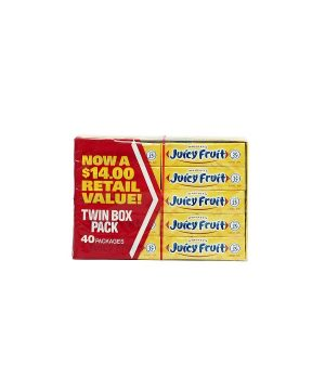 Wrigley's JUICY FRUIT Chewing Gum - 40 count box, 5 sticks each