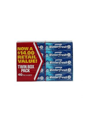Wrigley's Winterfresh Chewing Gum - 40 count box, 5 sticks each