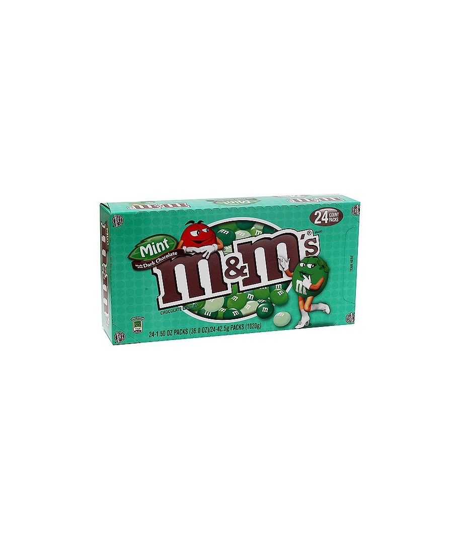 M&M's Chocolate Candies, Mint - 24 pack, 1.5 oz each