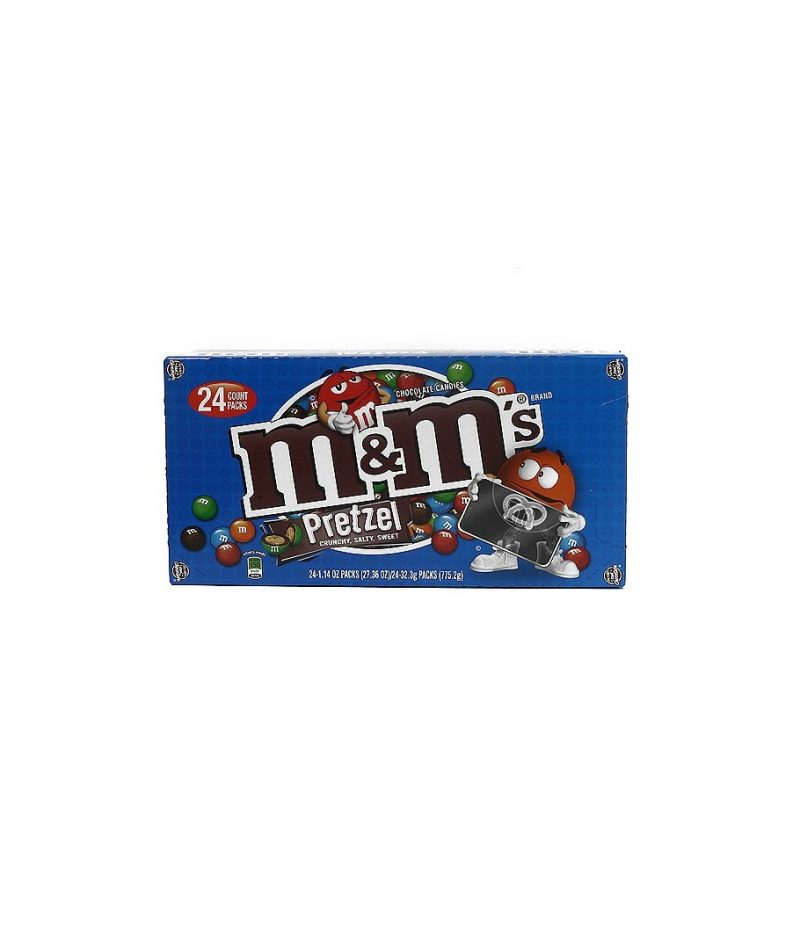 M&M's Chocolate Candies, Pretzel – 24 pack, 1.14 oz each