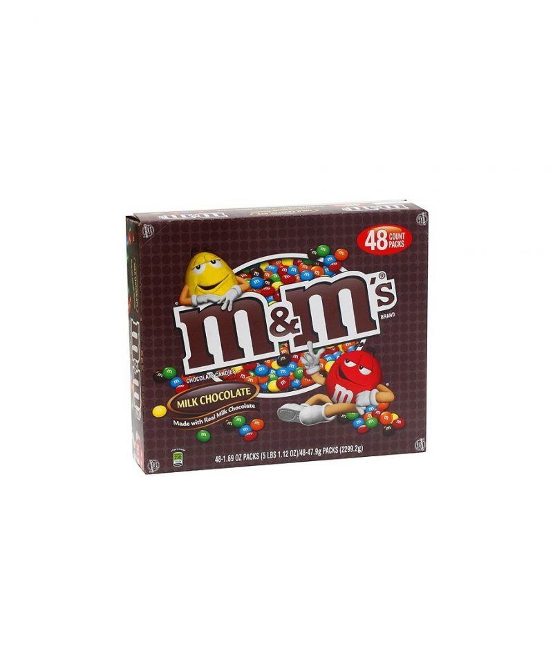 M&M's Milk Chocolate Candy 1.69-ounce packages (pack of 48)