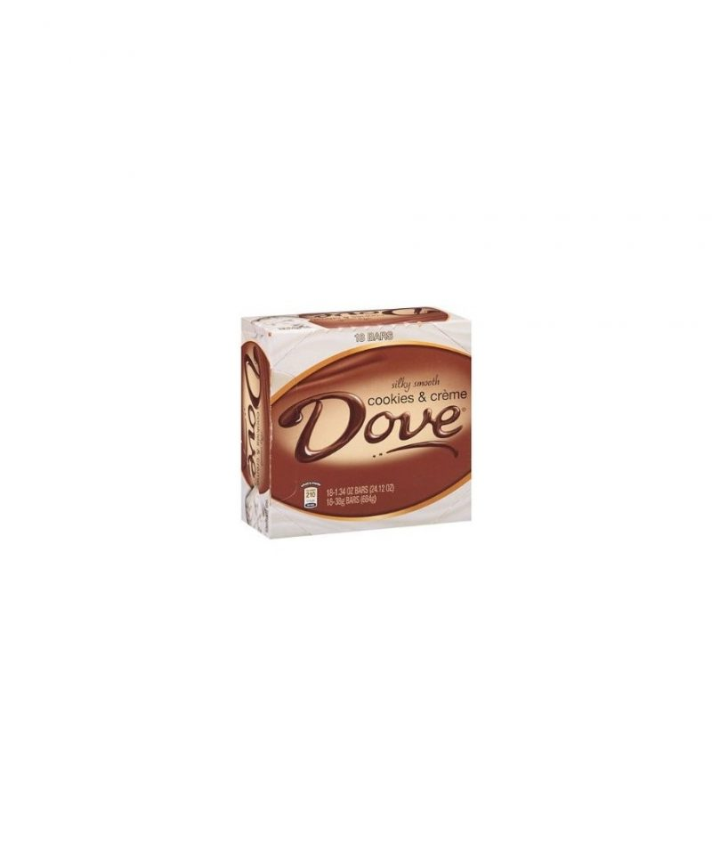 Dove Candy Bars, Cookies & Creme – 18 pack, 1.34 oz each