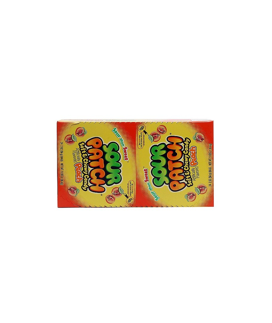 SOUR PATCH Soft Candy PEACH 24 pack, 2 oz bags