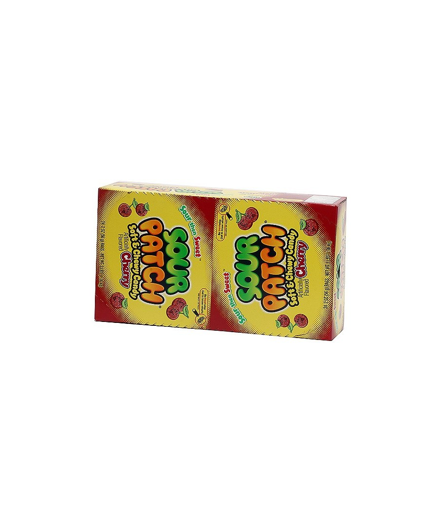 SOUR PATCH SOFT CANDY CHERRY 24 PACK, 2 OZ BAGS