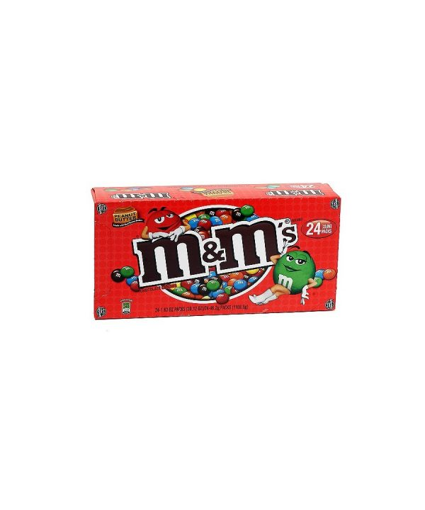 M & M Chocolate Candies, Peanut Butter – 24 count, 2.83 oz pack