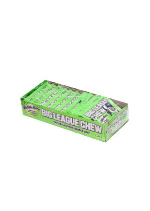 Big League Chew Bubble Gum, Sour Apple -12 ct, 2.12 oz pouch