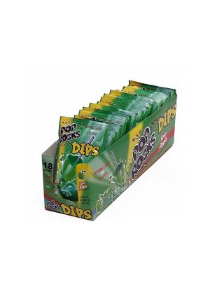 POP ROCKS DIPS SOUR APPLE 18CT