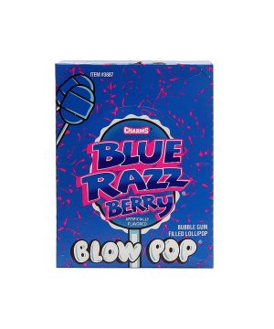 BLOW POP BLUE RAZZ BERRY lollipops 48 CT