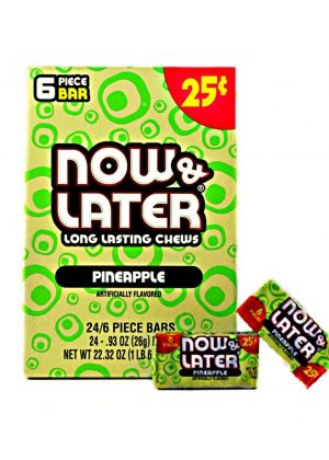 NOW & LATER 25C PINEAPPLE 24 CT