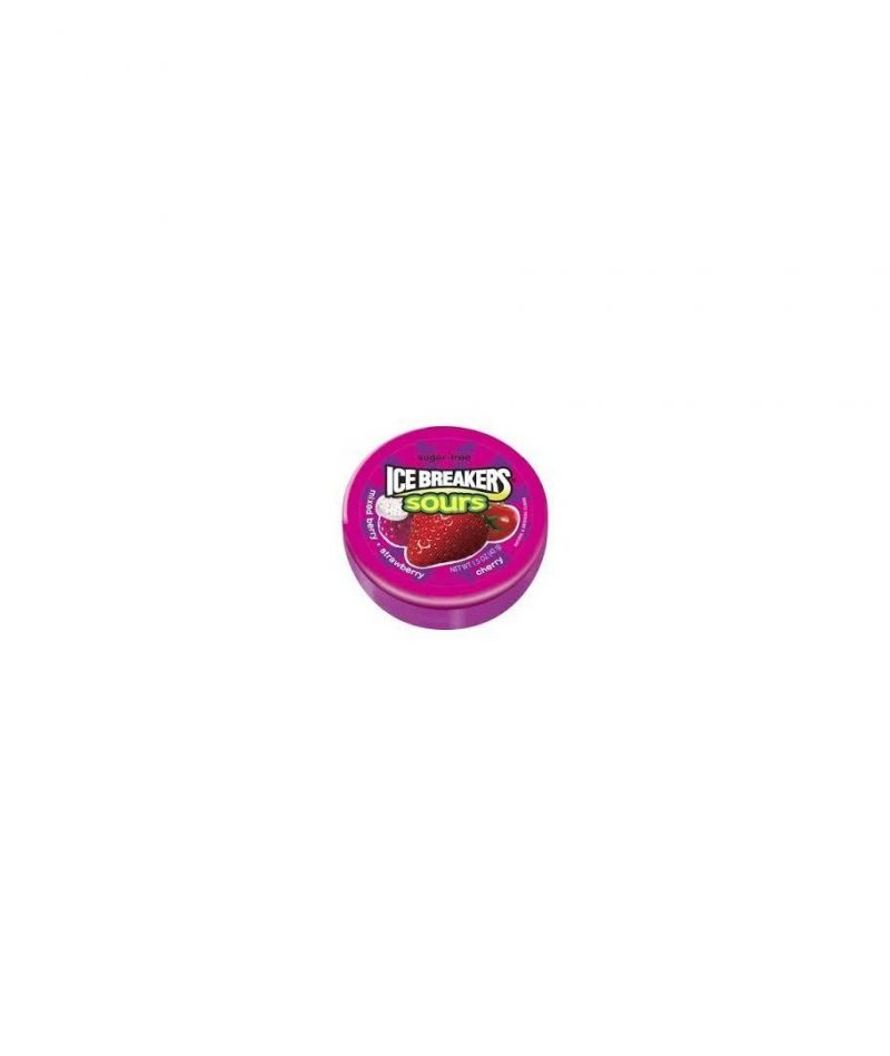Ice Breakers Sours Mixed BerrySugar Free Mints, 8 CT – 1.5 oz each