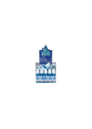 Ice Drops ICY MINT Liquid Breath Fresheners [50 BOTTLES - 3.2ML each]