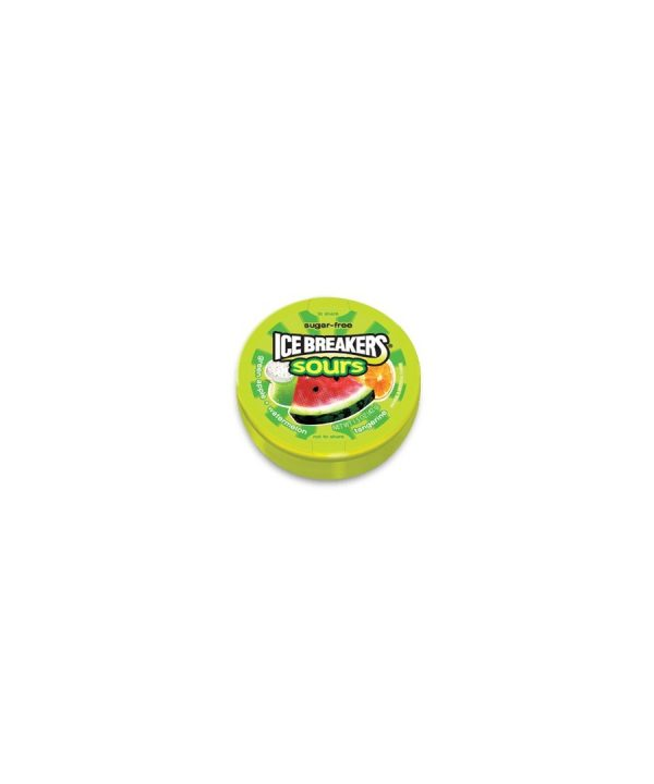 Ice Breakers Sours Sugar Free Mints, 8 CT – 1.5 oz each