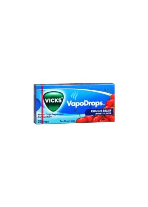 Vicks VapoDrops CHERRY Cough Suppressant/Oral Anesthetic [20CT - 20 Drops Each]