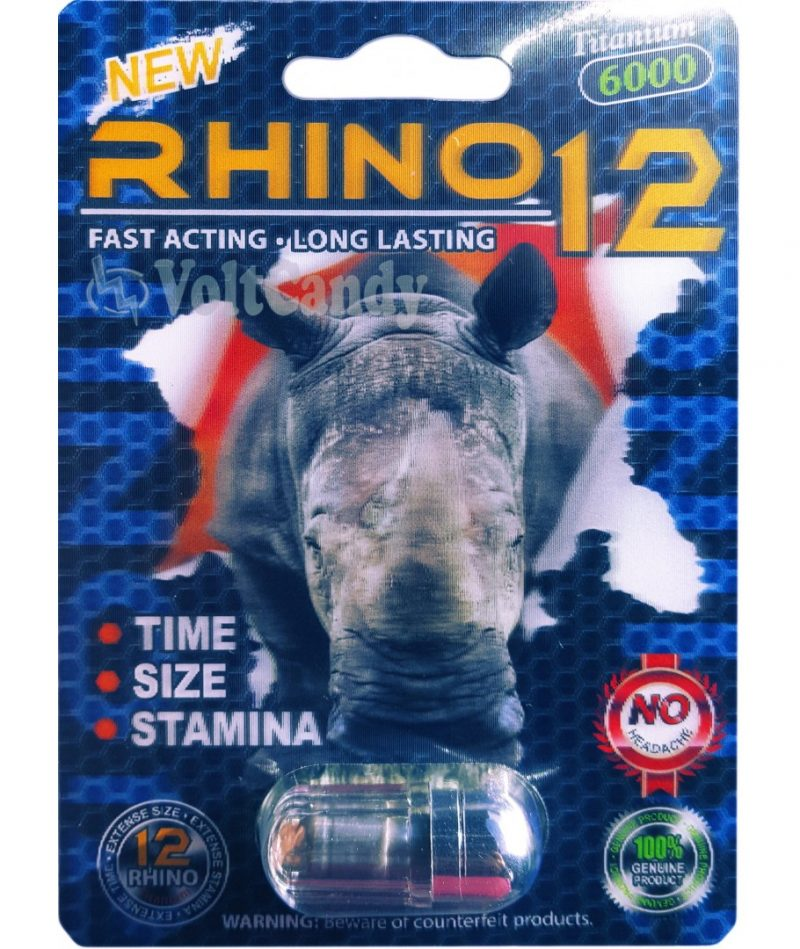 Rhino 12 6000mg Best male enhancement with Maca Root For Increased Performance & Desire.