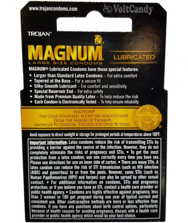 Trojan Condoms Her Pleasure™ Premium Latex Lubricant 3-pk