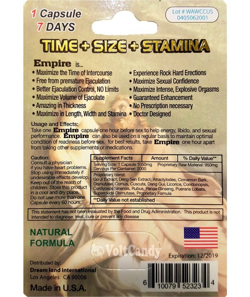ULTRA EMPIRE GOLD 2000 Male Sexual Performance Enhancement