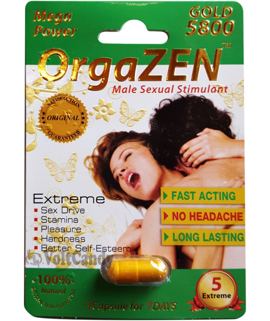 OrgaZen Mega Power Gold 5800 Male Sexual Stimulant