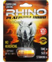 Rhino Platinum 8000 Boosters and Enhancers for Libido