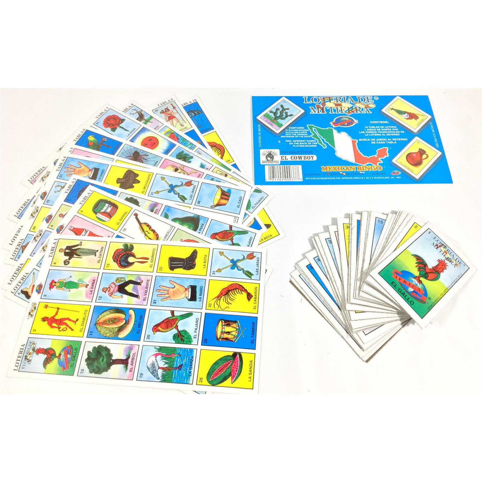 LA LOTERIA extra playing cards Mexican Bingo